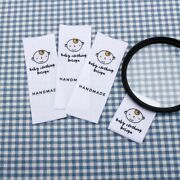 Custom Sewing Labels Personalized Baby Logo Cotton Ribbon Garment Clothing Tag