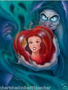 Disney Giclee Snow White Queen / Wicked Witch On Canvas Limited Edition Only 195