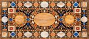 48 X 22 Marble Dining Center Table Top Semi Precious Stones Inlay Home Decor
