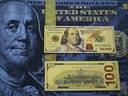 50 Gold Banknotes Bills Reserve Notes Non Paper Federal Us Coins President Small