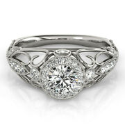 1.00 Carat Real Diamond Engagement Solid 950 Platinum Ring For Her Size 5 6 7 8