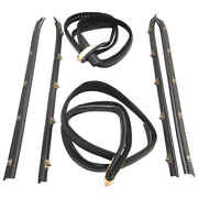 Rear Doorsweep Belt And Glass Run Window Channel 6 Pc Kit For 73-91 Chevy Suburban