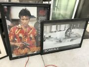 Scarface Collection Frames 2 Wood Acrylic Frames 3 Glass Lot Of 5 Collectables