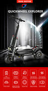 Quick Wheel Explorer Off Road Electric Scooter. 18.2ah Battery   11inch Wheels