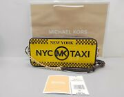 Super Rare New Be The 1st New York Taxi License Plate Box Clutch