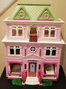 Lot Of Fisher-price 2008 Loving Family Grand Mansion Dollhouse Beautiful