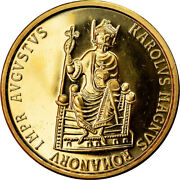 [902735] Coin Belgium Charlemagne 50 Ecu 1989 Ms Gold Km174