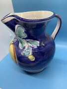The Cellar Pitcher Exclusively Hand Painted Art Pottery Macy's Co Vintage Italy