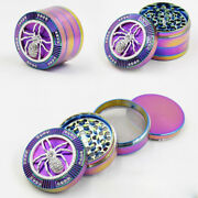 2 Inch 4 Piece Rainbow Tobacco Herb Crusher Grinder Us Seller Free Shipping