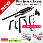 Black 10in Clamp On Catback Exhaust Tip 3/8 In 4.25 Out 284280 For Tundra 09-20