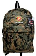 Usmc Marines New Backpack Licensed With Tags In Digital Camo 12w X 17h X 5d
