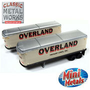 Classic Metal Works 51180 Aerovan Trailer Overland Freight 2-pack N Scale