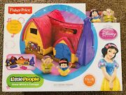 2013 Fisher-price Little People Snow White's Cottage Playset Disney Princess 👸