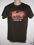 Euc Rootbeer Stand Oglesby Illinois Drive-in Brown Crewneck Tshirt Unisex Small