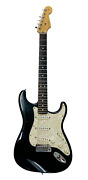Fender Stratocaster Black And Mother Of Pearl Made In Usa Rh 2001 Or Early 2002