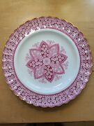 1 Copeland Spode Primrose Bone China Porcelain Gilded Lunch Plate With Chip
