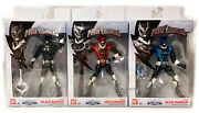 Bandai Power Rangers In Space Legacy Psycho Lot Set Of 3 Red Black Blue - Sealed
