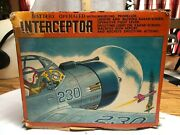Vintage Battery Operated Toy Interceptor Airplane