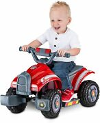 Toddler Four Wheeler Patrol Ride On Battery Powered Fire Truck Quad Marshal Paw