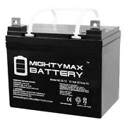 Mighty Max 12v 35ah Sla Battery Replaces Craftsman 25780 Lawn Tractor And Mower