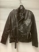 100 Real Brand New Genuine Leather Women's Xl Black Zip Up Leather Jacket