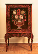 Antique Telephone Table With Rosemaling