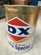 Vintage Dx D X Boron Extra Special 1 Qt Oil Can Full Quart Sae 10w 20w 30 Motor