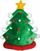 Beistle 1-pack Plush Christmas Tree Hat One Size Green/red/white/yellow