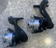 2 Pieces Celsius Black Ice Ii Ultralight Spinning Reel Ice Fishing Crappie Bream