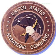 Strategic Command - Stratcom - Handcrafted Military Wood Art Plaque
