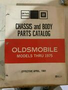 Oldsmobile Chassis And Body Parts Catalog Models 1949 Thru 1975