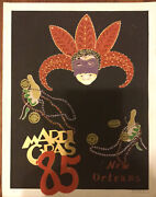 George Luttrell Ii Signed 39/5000 Mardi Gras 1985 Fair Condition