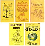 Prospecting Books Gold Panning Sluicing Vintage Rare Collectible Set Of 5 Books