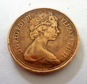 Very Rare 1971 New Pence First Edition Coin