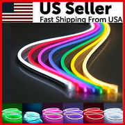 12v Flexible Led Strip Waterproof Sign Neon Lights Silicone Tube 1m 2m 3m 5m Usa