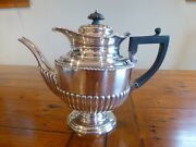 Antique J.n.m Mappin And Webb Sterling Silver Teapot Coffee Pot 1893 Victorian