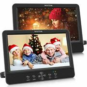 Wonnie 10.5 Dual Screen Dvd Player Portable Cd Players For Car With Two Moun...