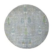 8and0392x8and0392 Folk Art And Willow Cypress Tree Design Peshawar Hand Knotted Rug G55705