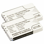 2 Pack Battery For Logitech Harmony Remote 1100 1100i 915 L-lu18 190582-0000