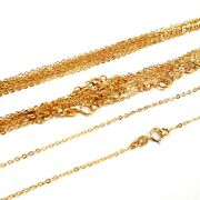 Wholesale Lots 14kt Gold Filled 1.5x2mm Flat Cable Chain Necklaces Belly Chains