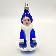 Glass Ornament The Snow Queen Maiden Vintage Decoration Christmas