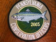 Pa Pennsylvania Game Commission Conservation Officer Series 2003 Fish Patch