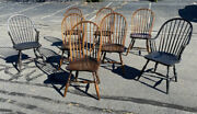 Vintage Set Of 8 Matching Country Windsor Dining Chairs The Windsor Workshop