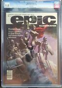 Epic Illustrated 1 Cgc 9.8 First Print - Frazetta Cover-surfer And Galactus Story