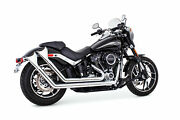 Freedom Performance Up Sweeps W/endcap Exhaust Chrome Fishtail End Cap Hd00763