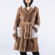 Winter Milk Fur Coat Women Whole Skin Real Fur Jacket Lapel Collar Warm Outwear