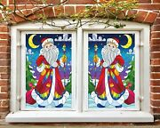 3d Santa Claus 1844nao Window Film Print Sticker Cling Stained Glass Uv Block Fa