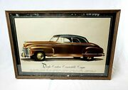 Rare Vintage 1940and039s Dodge Custom Convertible Coupe Showroom Sign Poster Print Ad