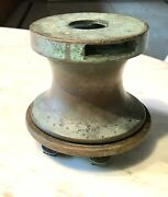 Antique Vintage Bronze Brass Large Winch I Have Two If Needed.