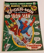 Marvel Team-up Featuring Spider-man And The Invincible Iron Man 9 May 1973, Ma
